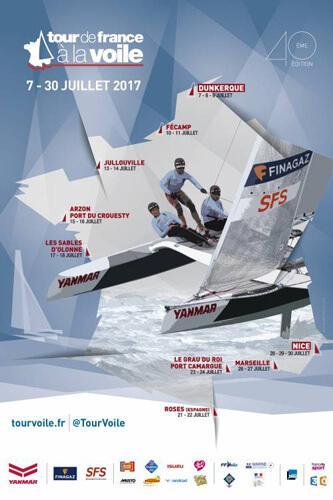 parcours tour de France à la voile 2017