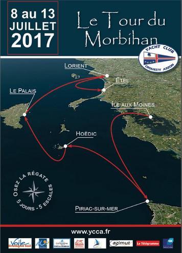 tour du morbihan voile 2017