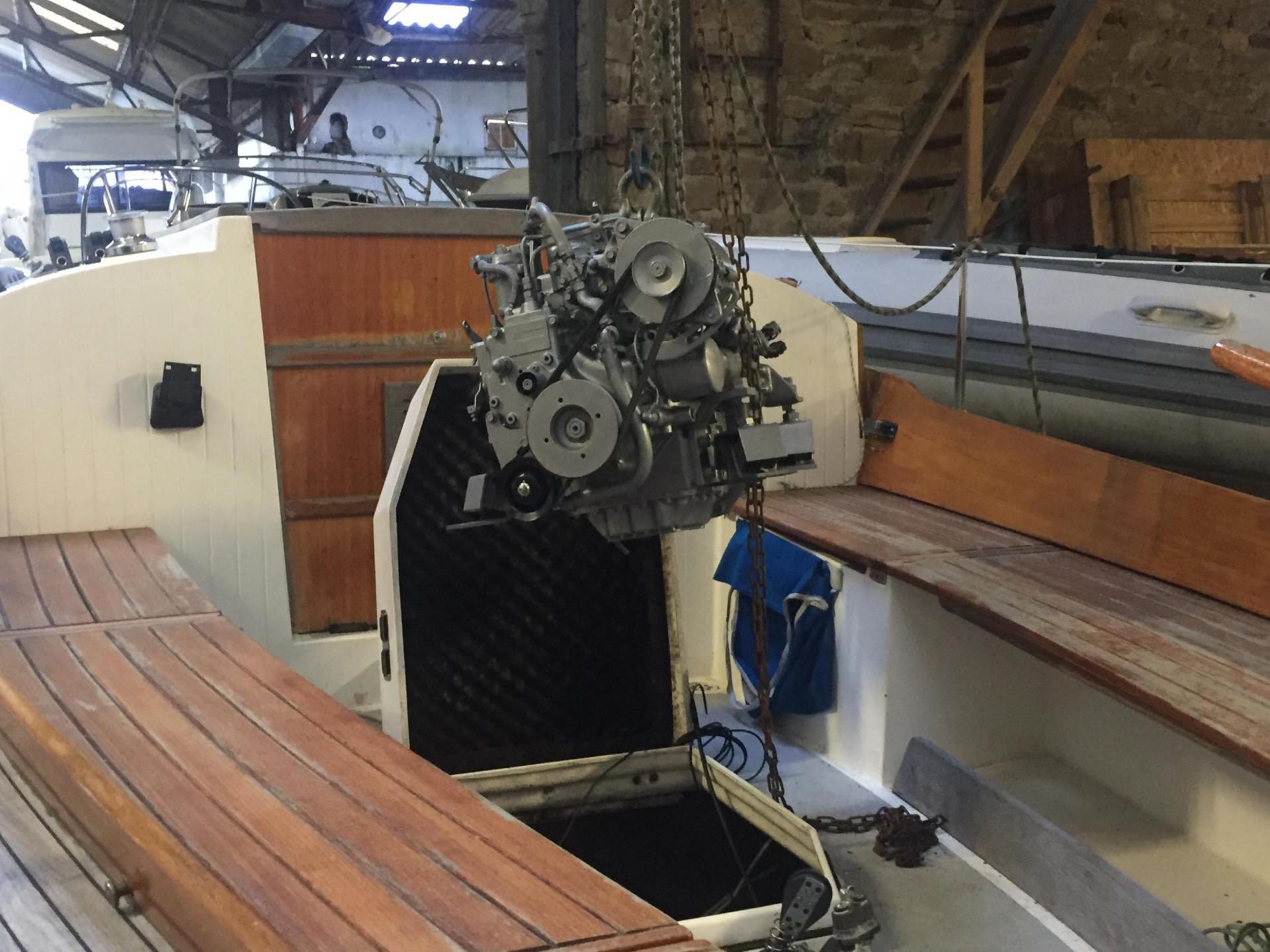 Révision moteur voilier Tadorne