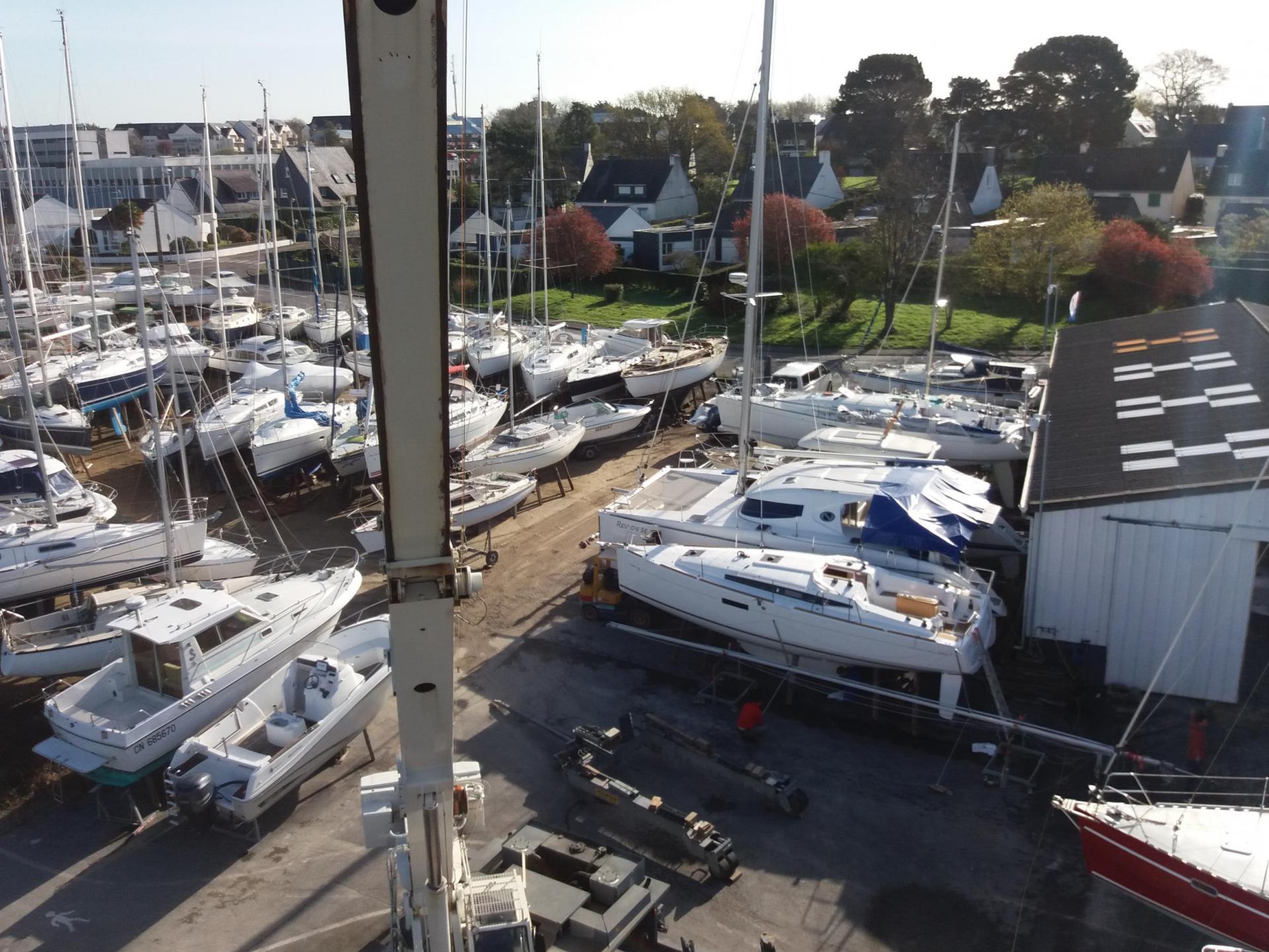 Quillage matage de bateau à Vannes Morbihan France
