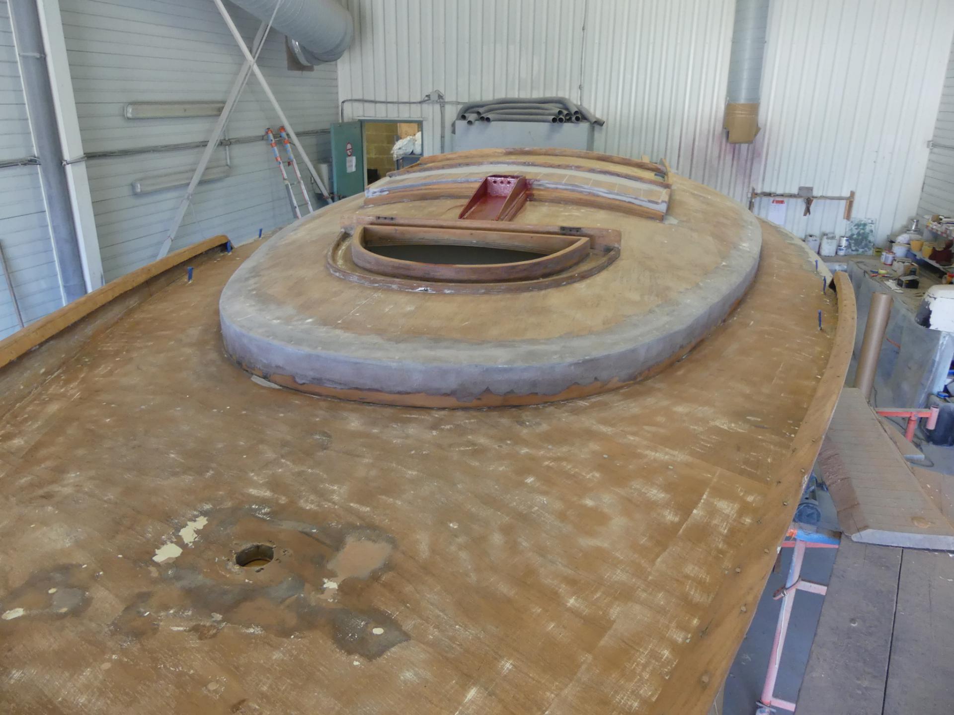 Décapage bois en bois bateau ancien West yachting vannes